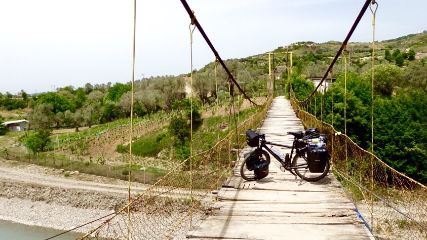 Some people pay good money to cross these kinds of bridges. For me? Just another day in Albania