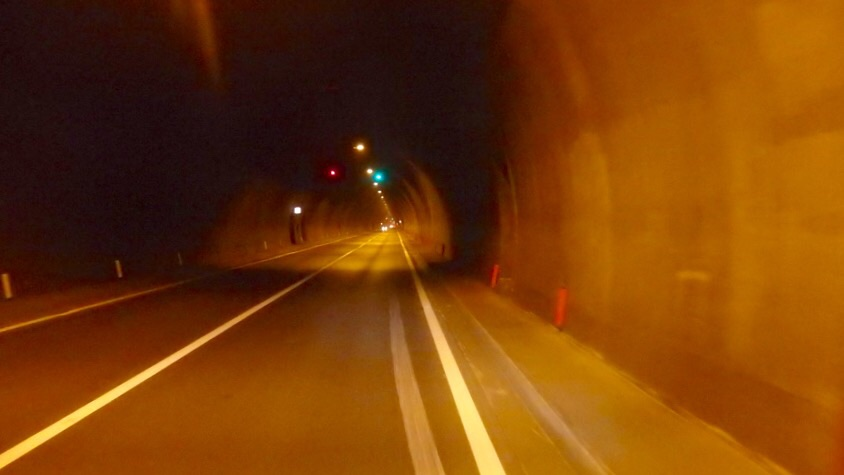 Tunnels at night are as safe as during the daytime. Not very